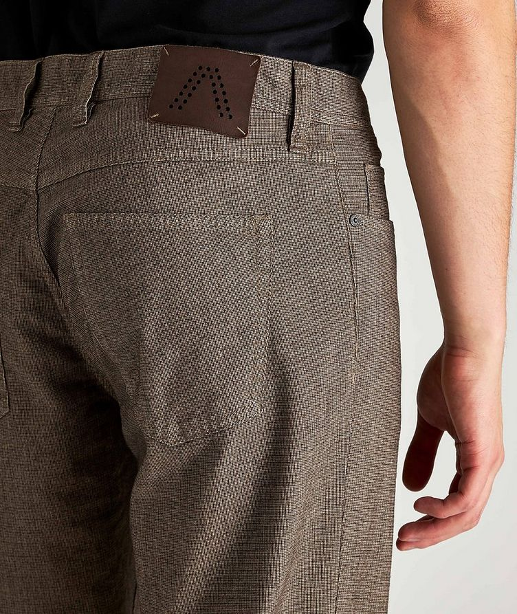 Checked Regular Fit Stretch-Cotton Pants image 2