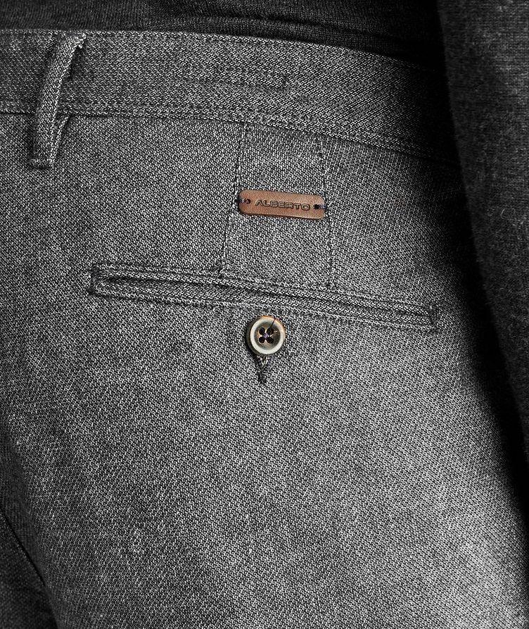Pantalon en mélange de coton de coupe amincie image 2