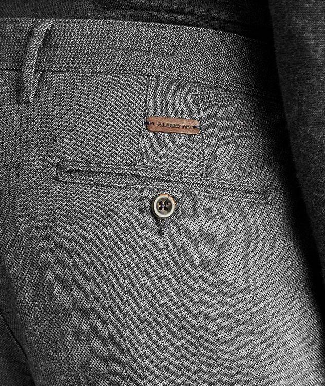 Pantalon en mélange de coton de coupe amincie picture 3