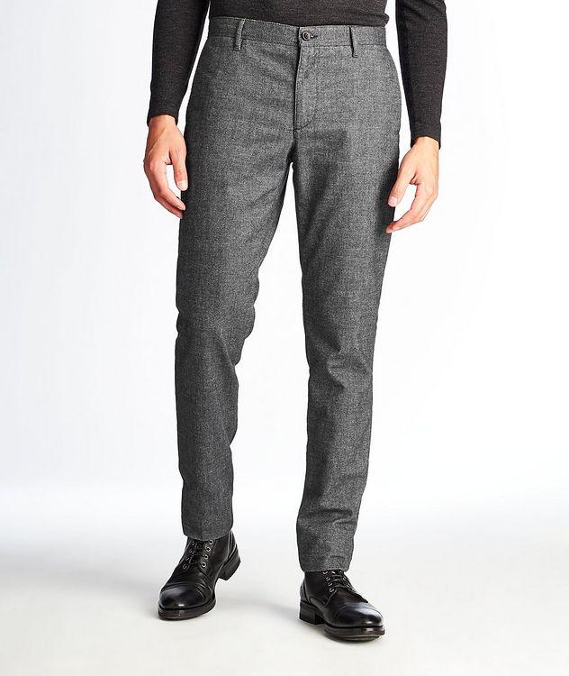 Pantalon en mélange de coton de coupe amincie picture 1