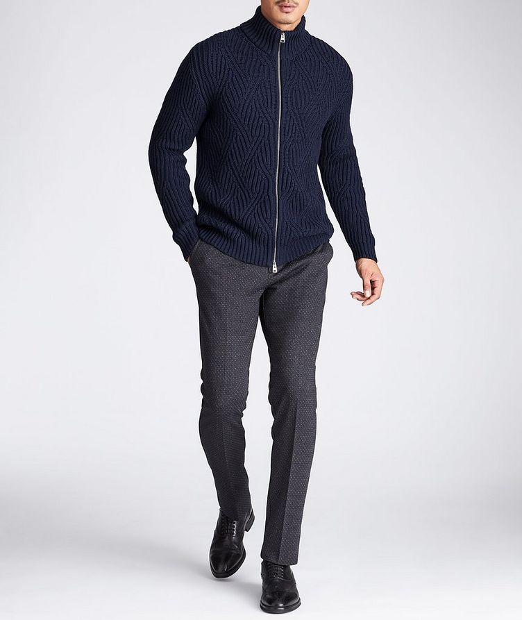 Slim Fit Wool-Cotton Dress Pants image 3