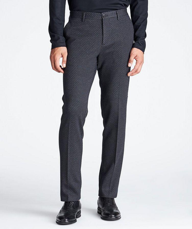 Slim Fit Wool-Cotton Dress Pants image 0