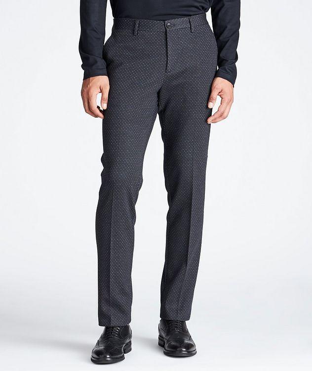 Slim Fit Wool-Cotton Dress Pants picture 1