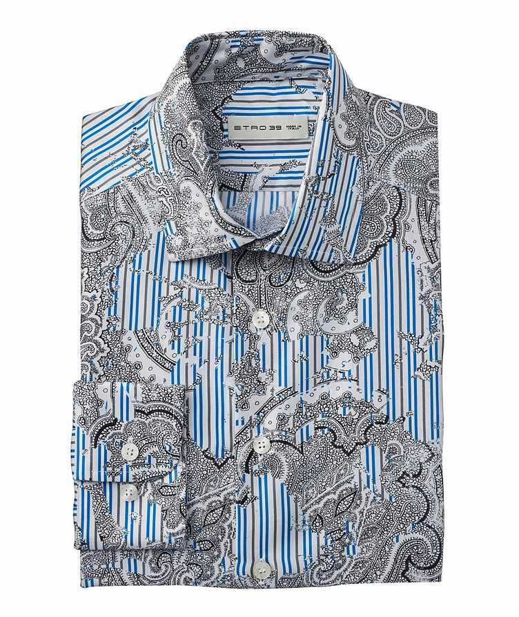 Paisley-Striped Silk Shirt image 0