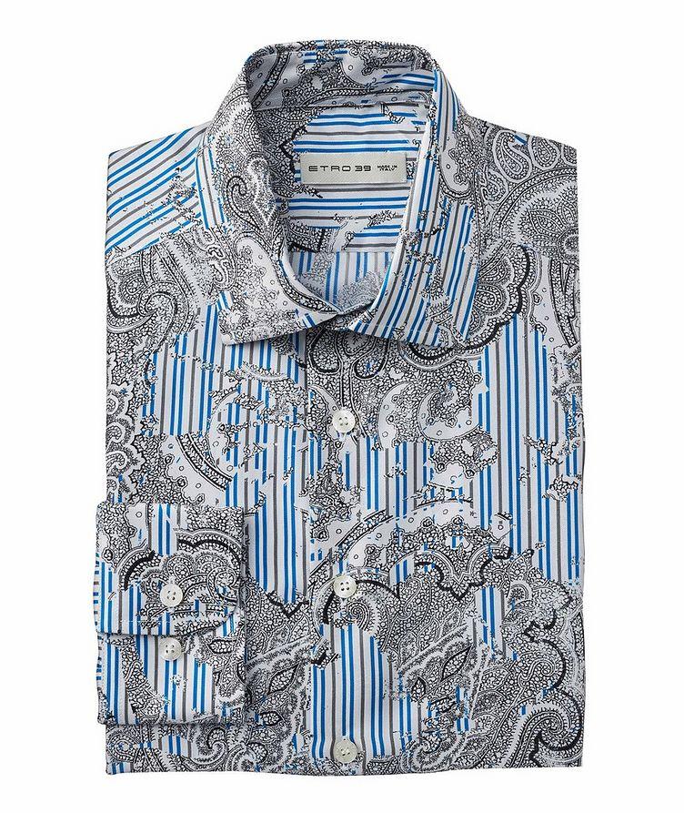 Chemise en soie à motif paisley et rayures image 0
