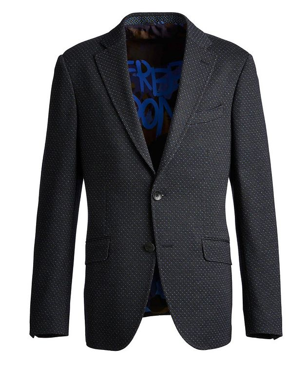 Neat-Printed Wool-Cotton Sports Jacket picture 1