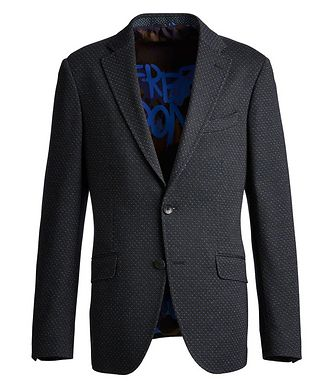 Etro Neat-Printed Wool-Cotton Sports Jacket