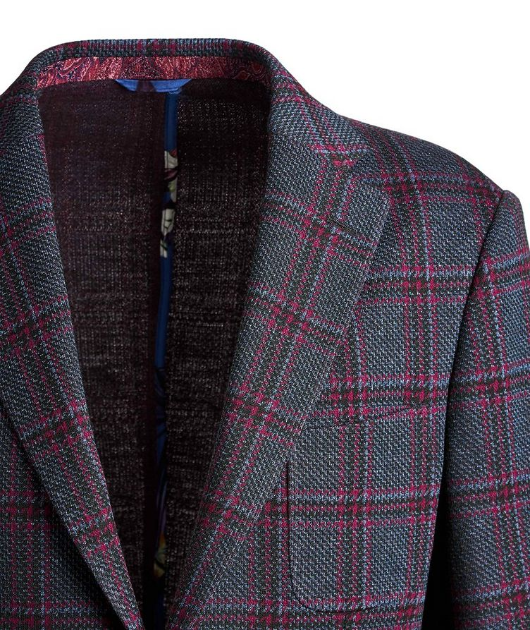 Checked Cotton-Wool Sports Jacket image 2