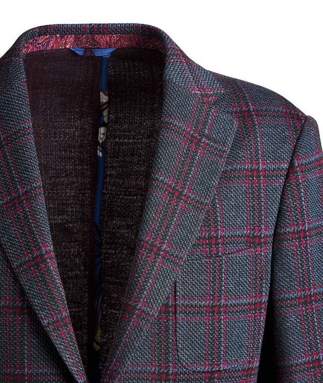 Checked Cotton-Wool Sports Jacket picture 3