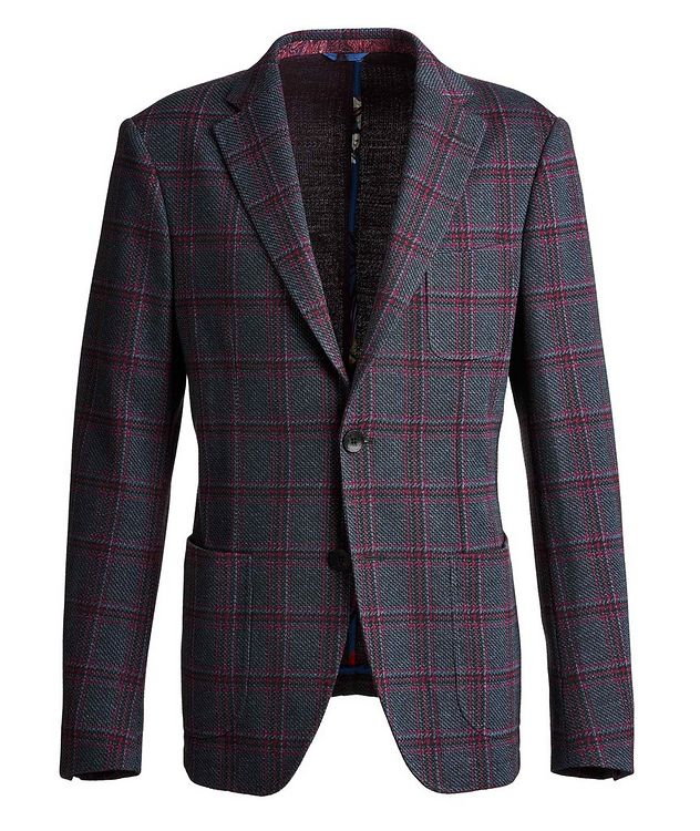 Checked Cotton-Wool Sports Jacket picture 1