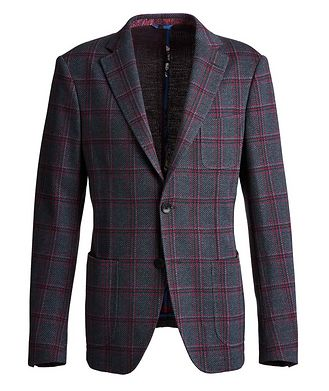 Etro Checked Cotton-Wool Sports Jacket