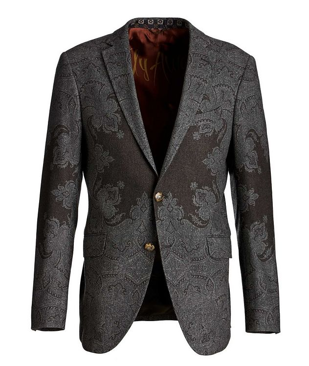 Paisley Wool-Blend Sports Jacket picture 1