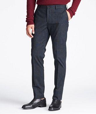 Etro Slim Fit Paisley Stretch-Cotton Dress Pants