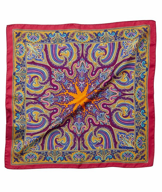 Printed Silk Pocket Square picture 1