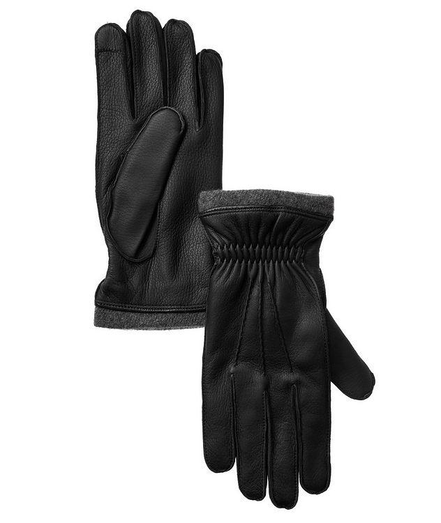 Gants en cuir compatibles avec les écrans tactiles picture 1