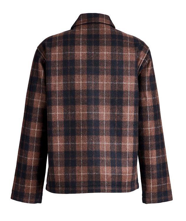 Plaid Wool-Blend Shirt Jacket picture 2