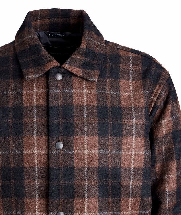 Plaid Wool-Blend Shirt Jacket picture 3