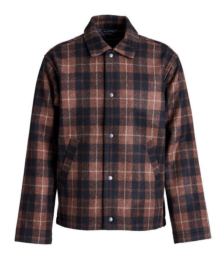 Plaid Wool-Blend Shirt Jacket image 0