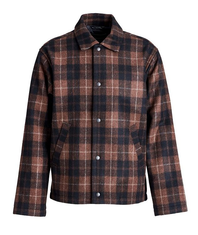 Plaid Wool-Blend Shirt Jacket picture 1