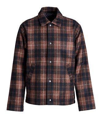 Wings & Horns Plaid Wool-Blend Shirt Jacket