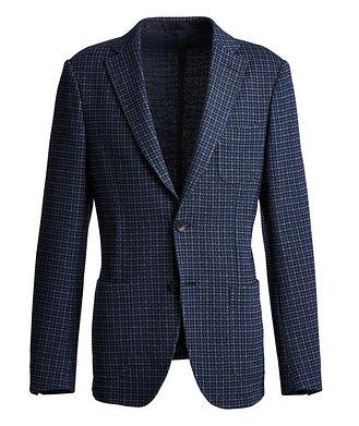 Etro Houndstooth Cotton-Wool Sports Jacket