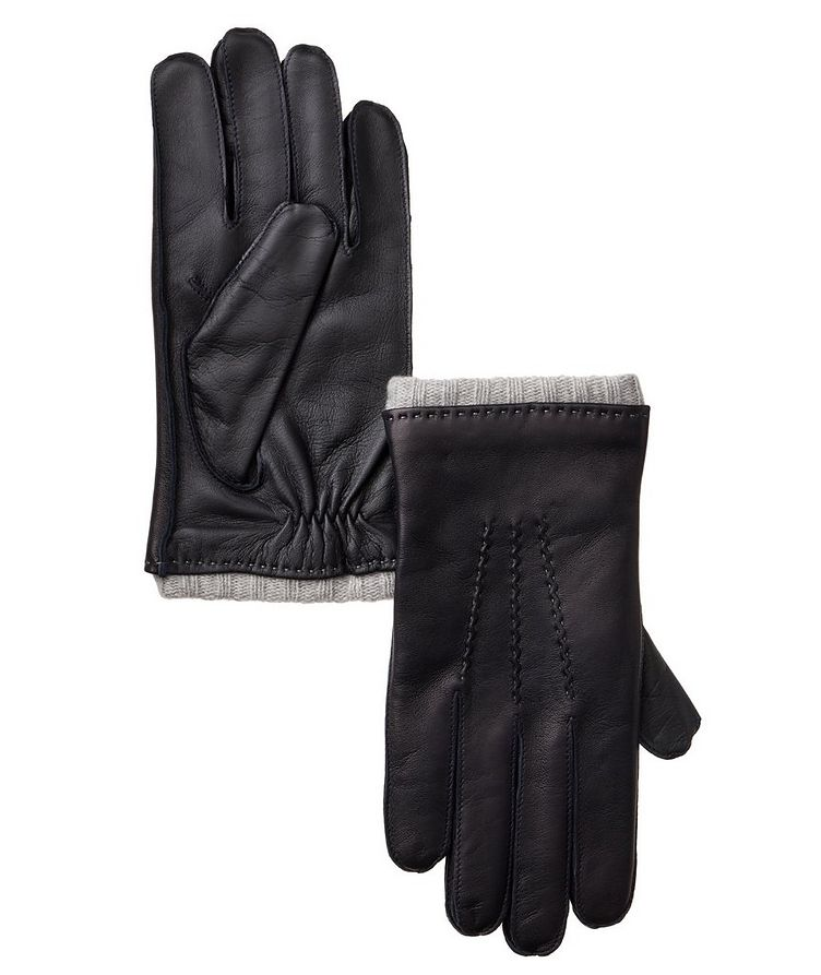 Leather and Cashmere Gloves image 0