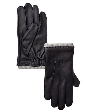 Harry Rosen Leather and Cashmere Gloves
