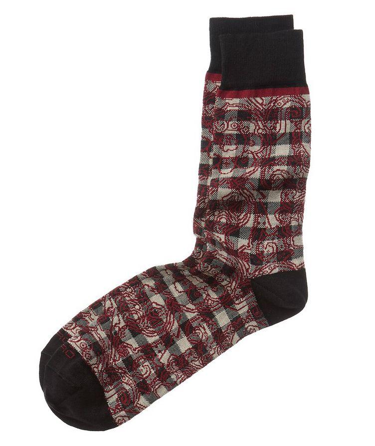 Paisley-Printed Socks image 0