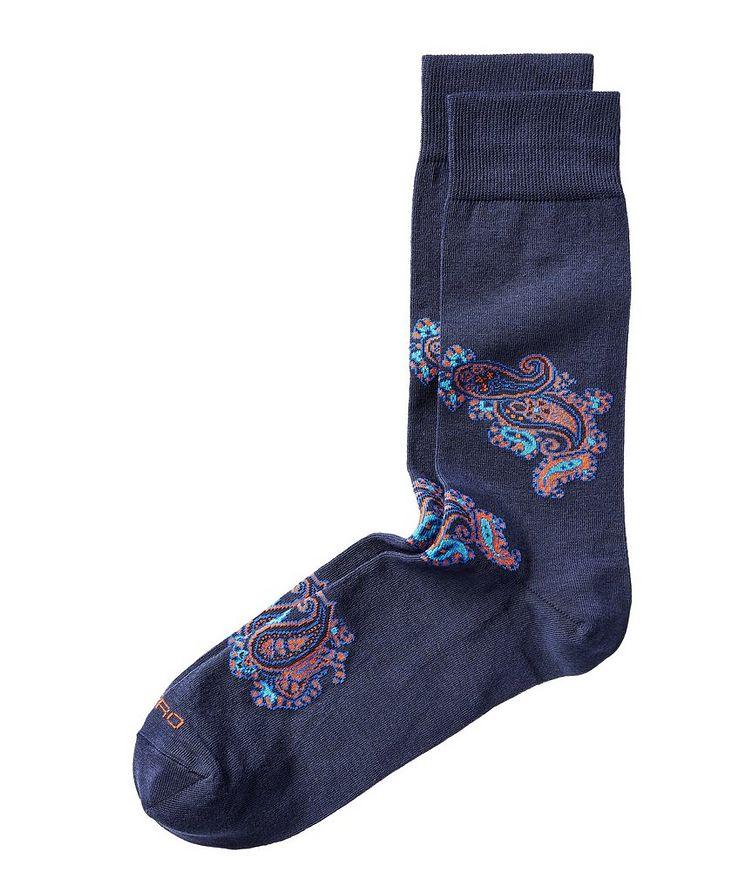 Paisley Print Socks image 0