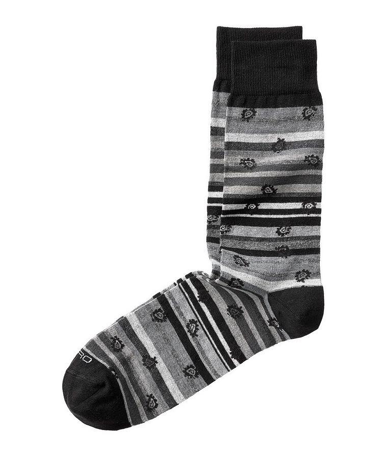 Paisley-Print Striped Socks image 0