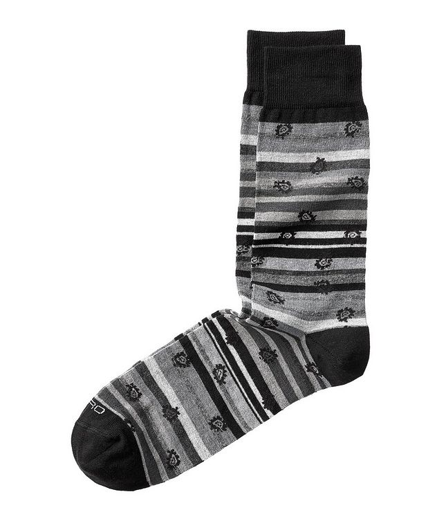 Paisley-Print Striped Socks picture 1