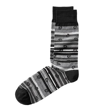 Etro Paisley-Print Striped Socks