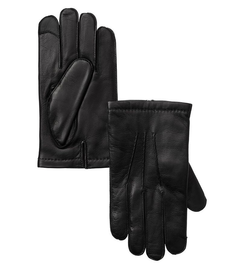 Leather Cashmere Gloves image 0