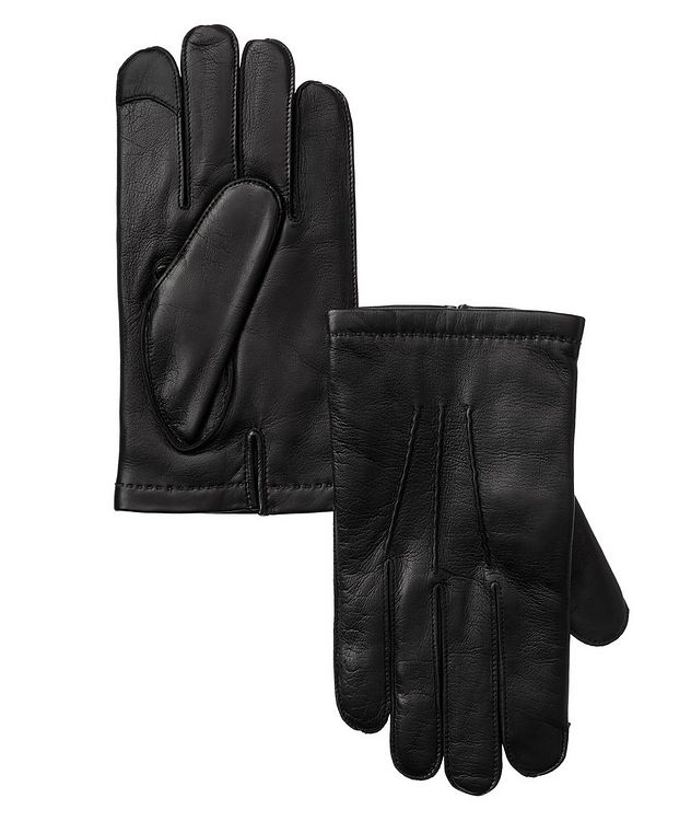 Leather Cashmere Gloves picture 1
