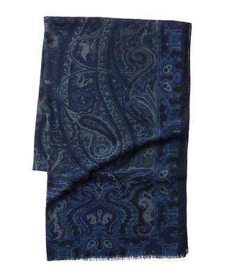 Etro Paisley Cashmere-Silk Scarf