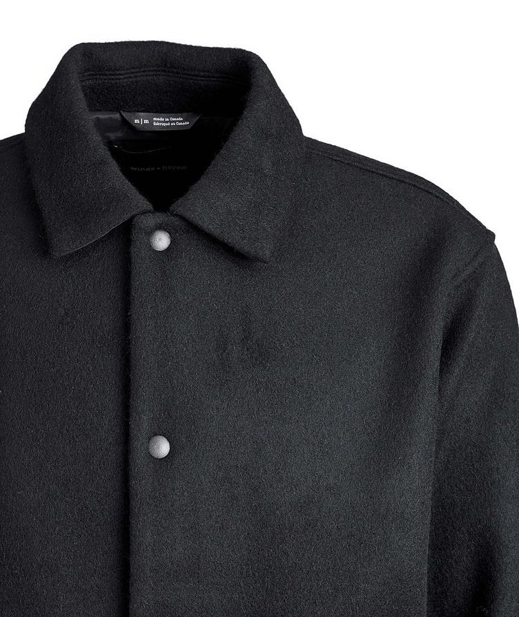 Wool-Blend Shirt Jacket image 2