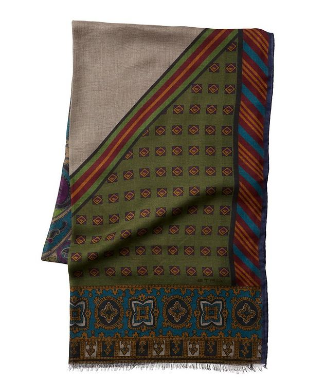 Printed Cashmere-Silk Scarf picture 1