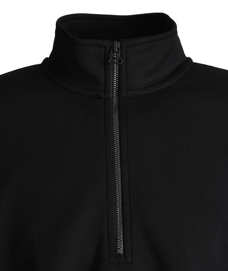 Structured Quarter-Zip Stretch Sweater image 1