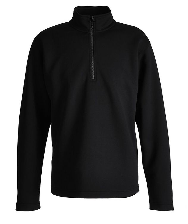 Structured Quarter-Zip Stretch Sweater picture 1