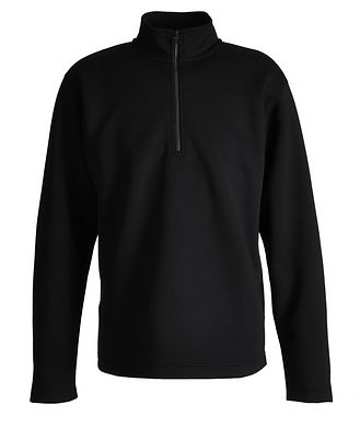 Wings & Horns Structured Quarter-Zip Stretch Sweater