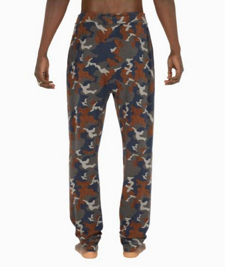 Snooze Camouflage Stretch-Modal Pants image 1