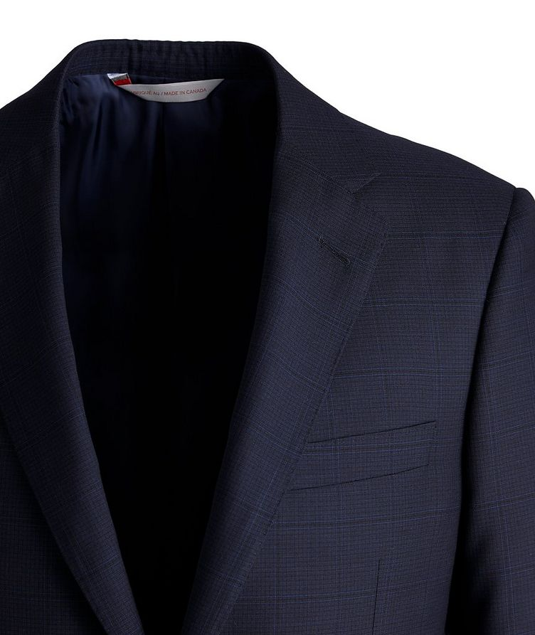 Cosmo Faint-Checked Wool-Silk Suit image 2