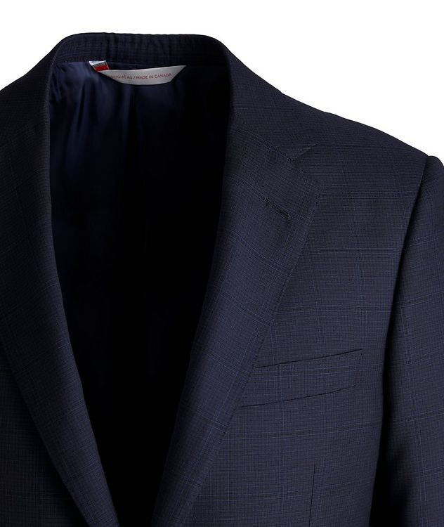 Cosmo Faint-Checked Wool-Silk Suit picture 3