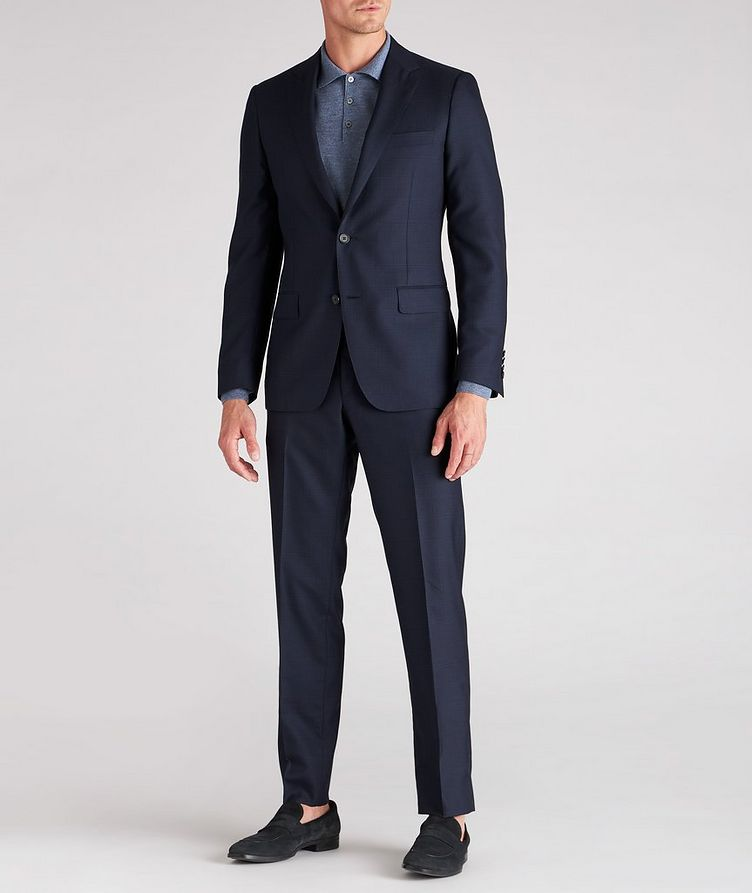 Cosmo Faint-Checked Wool-Silk Suit image 3