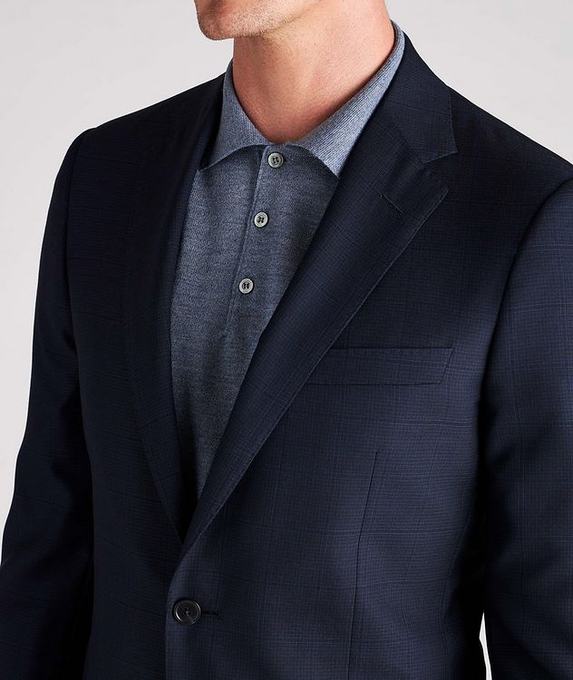 Cosmo Faint-Checked Wool-Silk Suit picture 6