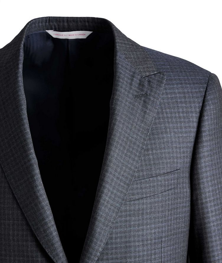 Madison Checked Wool-Silk Suit image 2
