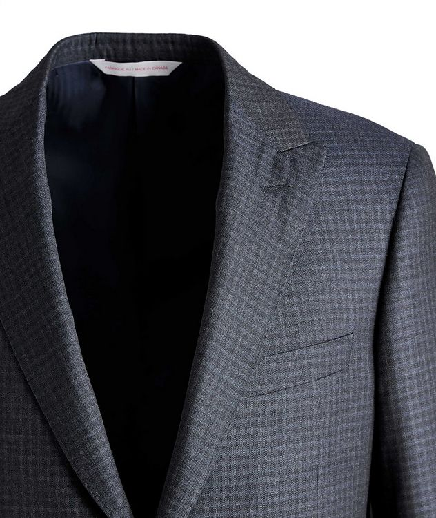 Madison Checked Wool-Silk Suit picture 3