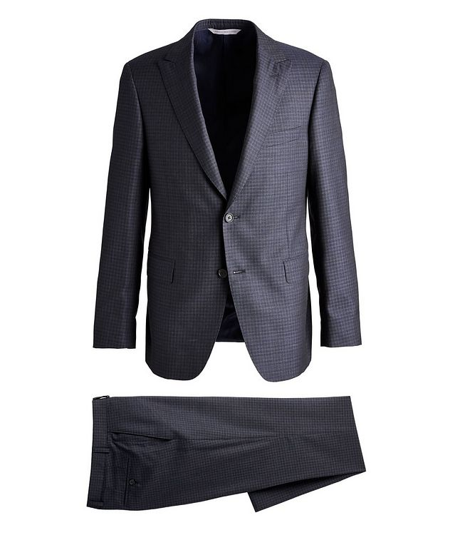 Madison Checked Wool-Silk Suit picture 1
