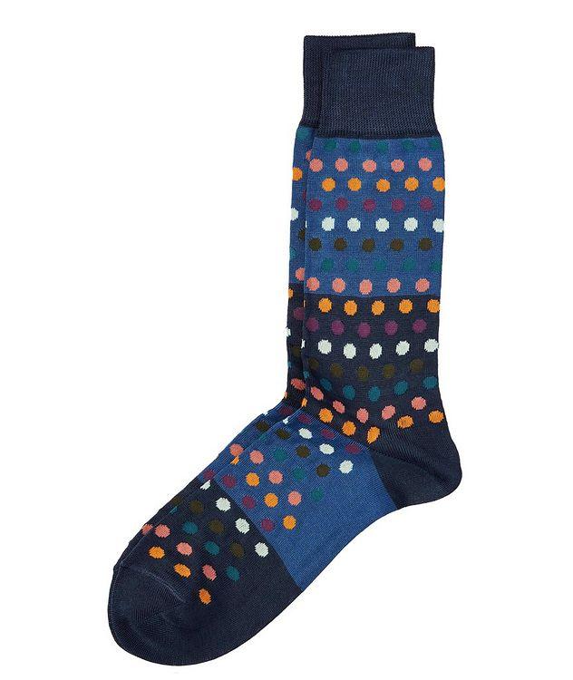 Chaussettes en coton extensible à rayures picture 1