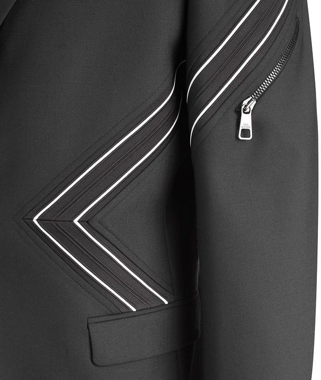 Chevron Stretch-Wool Sports Jacket picture 2